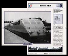 Fiche Autorail Bugatti PLM Locomotive Railway Chemin de Fer Train 1933