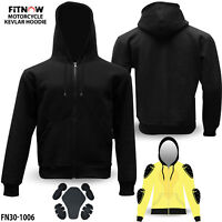 Motorcycle Kavlar Hoodie Hoody Full Armour Lined Protective Fleece Protection