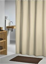 Plain Beige Fabric Shower Curtain 2.2mH New FREE SHIPPING