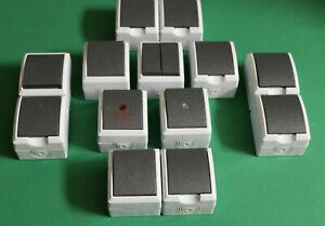 Feuchtraum Aufputz Steckdosen Schalter Kombination Doppelsteckdose AP IP44 REV