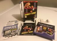 Donkey Kong NES Classic (Game Boy Advance) GBA Box & Manual Only