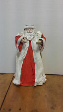 """Santa Claus Father Christmas Christmas Tree topper, paper & resin 11 1/2"""" tall"""