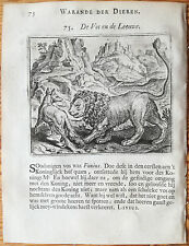Marcus Gerards Fabels Animals The Lion and the Fox - 1617