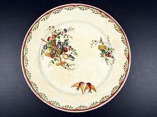 Assiette en faience Sarreguemines U&C début XXe decor Couleur Watteau