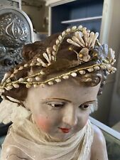 Frankreich Antike Braut Krone Wachs Tiara  Wax Bridal  Crown - Brocante Shabby