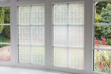 WHITE ORMAMENT GLASS WINDOW STICKY BACK PLASTIC SELF ADHESIVE VINYL FILM