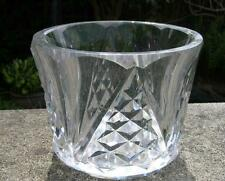 Antico FRANCESE BACCARAT firmato Pesante Taglio Vetro Vaso di cristallo PERIODO ART DECO