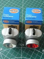 Vintage NOS front & rear Ever Ready Bicycle Lights (for Raleigh Chopper?)