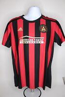 Womens NWT Adidas Atlanta United FC Soccer Jersey Shirt Red Black MLS Size L