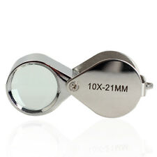 10 X 21mm Glass LED Light Magnifying Magnifier Jeweler Eye Loop Jewelry Loupe