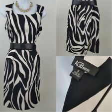ABG Dress Black & White Zebra Print Dress Size 8