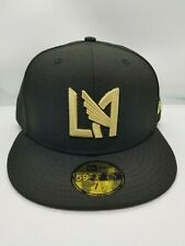 NEW ERA 59FIFTY FITTED HAT.  MLS.  LOS ANGELES FOOTBALL CLUB. BLACK