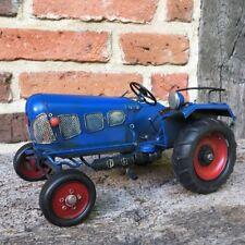 tractor azul rural METAL DECORACIÓN,Oldtimer