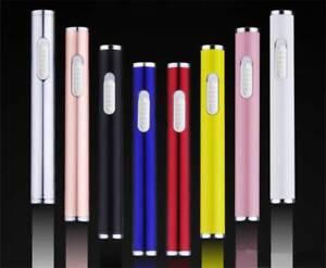 Mini Slim Electric USB Cigarette Cigar Lighter Aluminum Rechargeable Windproof