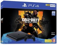 Sony PlayStation PS4 500GB Console Black & Call of Duty: Black Ops 4 Bundle.