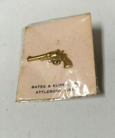SMITH & WESSON Vintage Pinback 357 Revolver Tie Tack Lapel Pin Diamond Grip NOS
