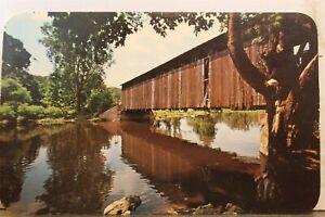 Michigan MI Grand Rapids Fallasburg Covered Bridge Lowell Kent County Postcard
