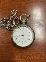 Antique Elgin Pocket Watch 1884 Blue Arms Not Working