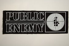 "Public Enemy Cloth Patch Sew On 7"" X 2.5"" Rap Hip Hop Wu Tang (CP269)"