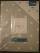 NEW CATH KIDSTON £90 LARGE SPOT GREY/ WHITE DOUBLE DUVET + 2 PILLOW CASES SET