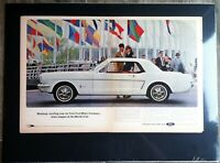 1964 Ford Mustang  original ad 289/v8/embelm/decal/shelby/manifold 1966 1965