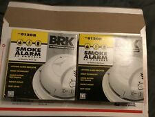 2-BRK ELECTRONICS - 9120B 120V Smoke Alarm, 9V Battery Backup Not aCO Detector