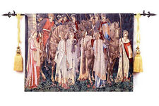 "Medieval Holy Grail Tapestry Fine Art Large Tapestry Wall Hanging 55""x39""-Battle"