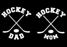 Custom Vinyl Hockey Mom or Hockey Dad Car Window Decal / Sticker