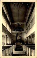 Echtfoto-AK Foto-Linzbach in Leutenberg Thüringen um 1930 Innenansicht Kirche