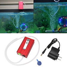 Pool Pond Fish Tank Rechargable Oxygenator Oxygen Aerator Air Pump w/ Battery SG