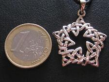 Keltischer Knoten Silber 925'er + Band + Box Ketten Anhänger etNox  / KA 314