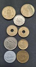 More details for bundle 9 coins spain pesetas 1900's 100 x 2, 50, 25 x 2, 5 x 2 & 1, italy 5 lire