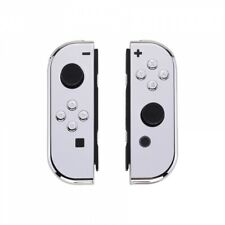 Custom Chrome Silver HousingShell Cover w/ Buttons for Nintendo Switch Joy-Con
