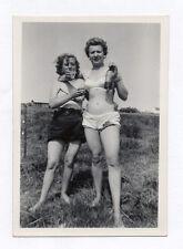 PHOTO Vintage Déguisement Travestissement Homme Couple Travesti Maillot de bain