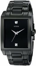 GUESS Black Stainless Steel Diamond Mens watch U12557G1