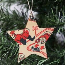 Decorazioni stella in legno per albero di Natale