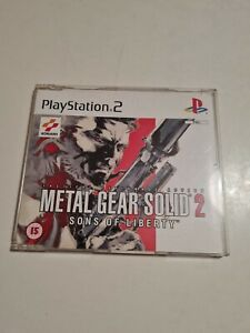 METAL GEAR SOLID 2  SONS OF LIBERTY PS2  playstation 2 PROMO RARE PAL