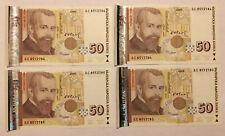BULGARIA: 4 x 50 Leva since 2006 in UNC condition - consecutive. BGN. БС 8552783