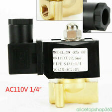 1/4 inch NPT Electric Brass Solenoid Valve Gas Water Air Valve AC 110V 0.2Amp