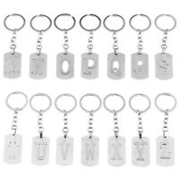 Creative Letter A-Z Keychain/Keyring Pendant Stainless Steel Car Key Chain/Ring