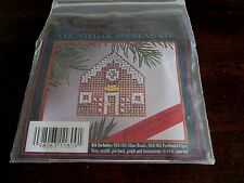 1991 Mill Hill GINGERBREAD HOUSE Ornament or Pin COUNTED GLASS BEAD KIT Holiday