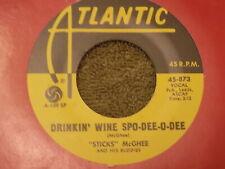 """STICKS McGHEE Drinkin' Wine Spo-Dee-O-Dee / Blues Mixture 7"""" 45 RE ex"""