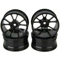 Aluminum Alloy RC 1:10 Scale Hex 12mm Wheel Rims For On-Road Racing Car 4pcs