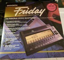 BOGEN FRIDAY FR-2000 Digital Receptionist Answering Machine w/ AT&T Power Cord