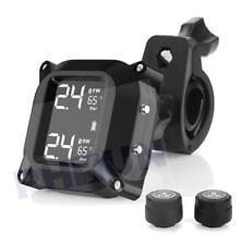 Motorcycle Tpms Tire Pressure Wireless Monitor Pressure Sensors + 2 Sensors 5V (Fits: Bourget's Bike Works)