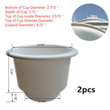 2PCS Excellent Distinctive Tiered White Plastic Cup Drink Can Holder Boat RV Kit