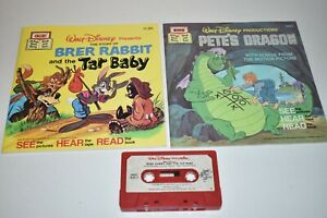 Walt Disney Brer Rabbit And Tar Baby Book and Cassette Tape 1977 Pete's Dragon