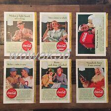 1940 COMPLETE Set of 6 NATIONAL GEOGRAPHIC MAGAZINE COCA-COLA COKE ADS