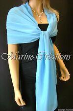 etole en mousseline MARIAGE/MARIEE coloris Turquoise