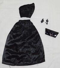 Vintage Mattel Barbie 1960's Black Two Piece Pak Outfit Purse Sandals Nm
